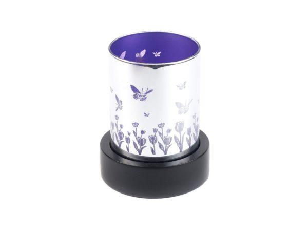 ПОДСВЕЧНИК деревянный со стеклянной чашей 10*10*12 см (арт. 4280083, код 933811)