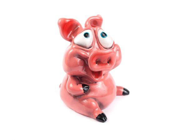 """КОПИЛКА пластмассовая """"Свинья"""" 14,5*14*17,5 см (арт. 75733, код 141661)"""