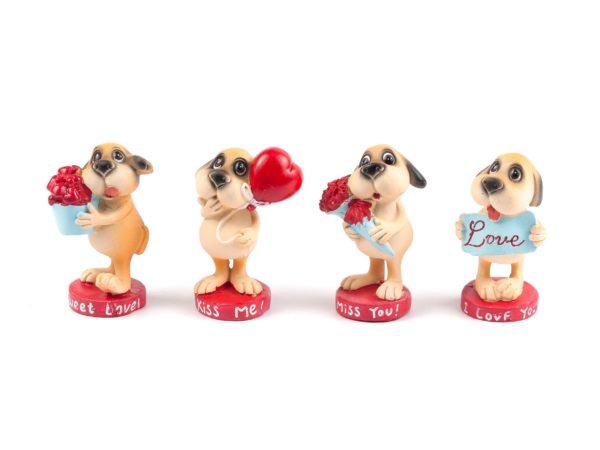 """СТАТУЭТКА пластмассовая """"Собака"""" 5,5*4,5*8 см (арт. 77890, код 111916)"""