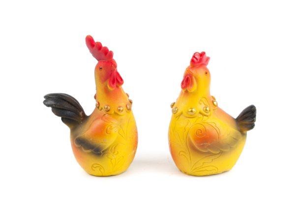 """СТАТУЭТКА пластмассовая """"Петух/Курица"""" 7*3,5*9,5 см (арт. TP167001, код 124725)"""