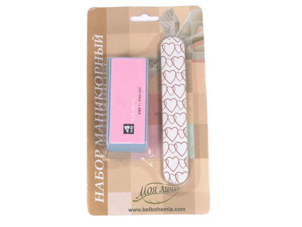 НАБОР МАНИКЮРНЫЙ 2 пр.: пилочка для ногтей на картонной основе 13 см, полировка для ногтей 9,5 см (арт. PA41016, код 053964)