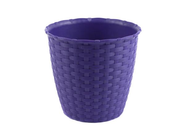 КАШПО ДЛЯ ЦВЕТОВ пластмассовое фиолетовое 14*13 см (арт. 4773448, код 734487)