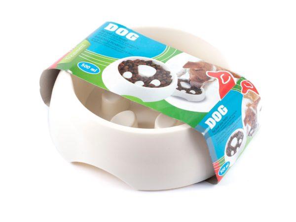 МИСКА ДЛЯ СОБАКИ пластмассовая 17 см для медленной еды (код 997162)
