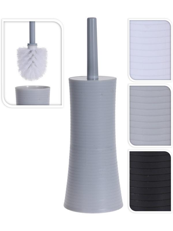 ЩЕТКА ДЛЯ WC полистирен в подставке 9*37 см (код 469721)