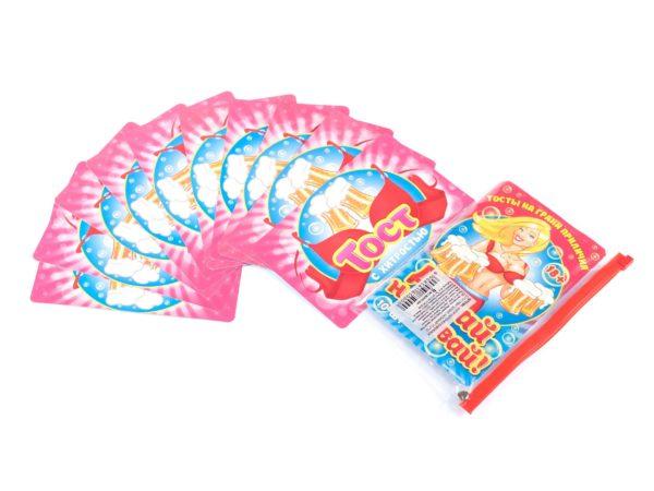 """НАБОР КАРТОЧЕК бумажных с тостами """"Давай, наливай!"""" 15,5*10 см (арт. 10779184, код 850000)"""