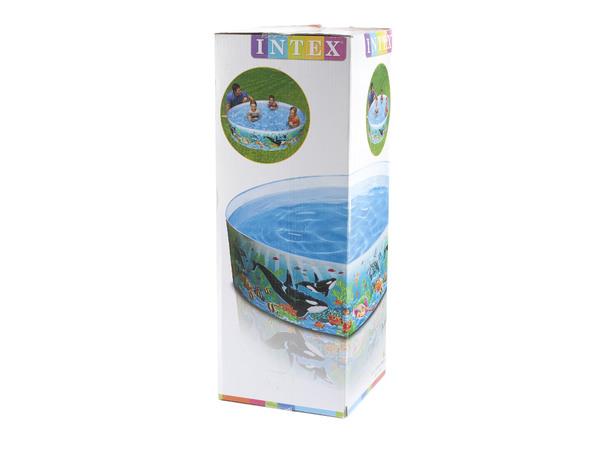 БАССЕЙН КАРКАСНЫЙ пластмассовый 183*38 см (арт. 58461)