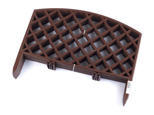 ЗАБОР пластмассовый декоративный коричневый 44*34 см 7 шт. в комплекте (арт. 3439БК, код 074174)