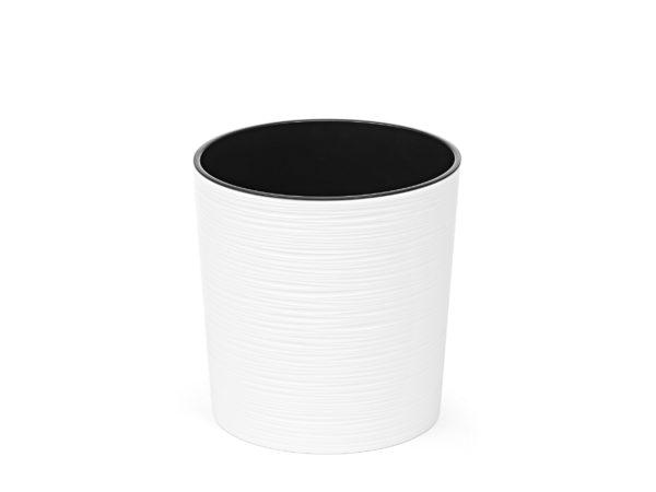 """КАШПО пластмассовое """"Malwa"""" белое 25 см (арт. LA722-05, код 057221)"""