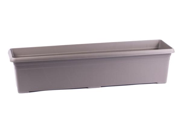"""КАШПО пластмассовое """"Nergiz Balcony"""" светло-коричневое 59*16*12,5 см (арт. NB60SK, код 497675)"""