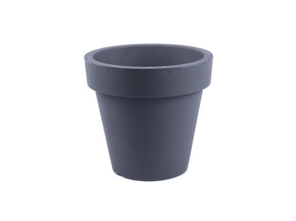 """КАШПО пластмассовое """"Fulya"""" антрацит 19,5*18 см (арт. FS20A, код 497019)"""