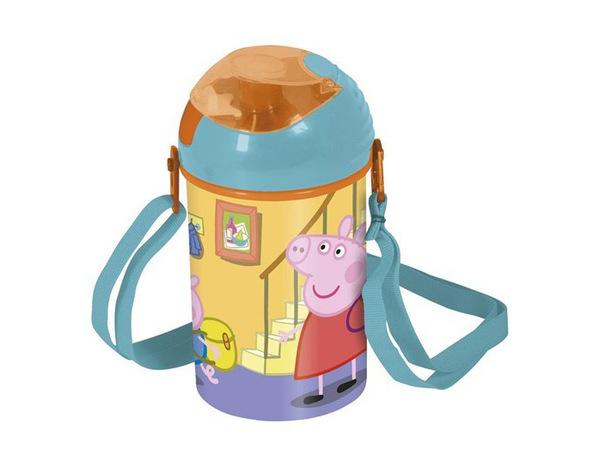 """БУТЫЛКА пластмассовая для питья детская """"Свинка Пэппа"""" 450 мл (арт. 12611003, код 410530)"""