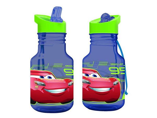 """БУТЫЛКА пластмассовая для питья детская """"Тачки"""" 400 мл (арт. 12603002, код 410325)"""