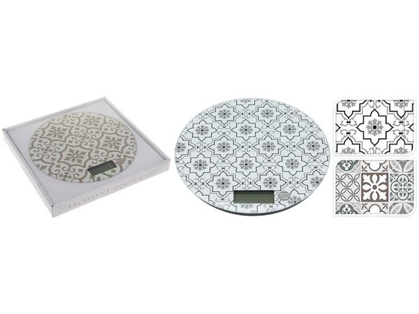 ВЕСЫ КУХОННЫЕ ЭЛЕКТРОННЫЕ стеклянные 18 см (код 390186) (работают от батареек)