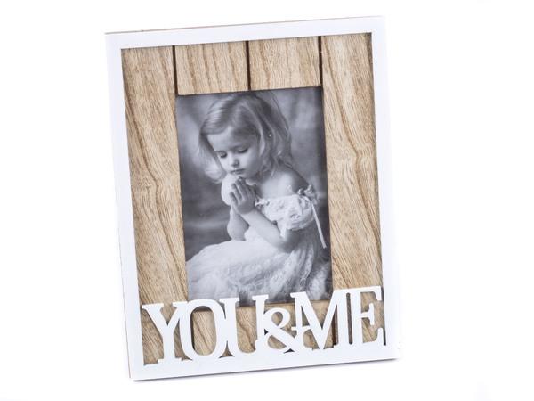 """РАМКА ДЛЯ ФОТО деревянная """"You&Me"""" 24*19 см (арт. 25418067, код 156153)"""