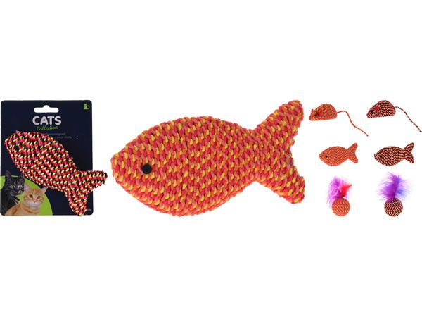 ИГРУШКА ДЛЯ КОТА текстильная 11,5 см в ассортименте (код 618532)