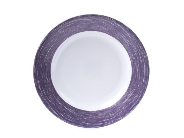 """ТАРЕЛКА ГЛУБОКАЯ стеклокерамическая """"Brush Purple"""" 22,5 см (арт. L0776, код 166053)"""