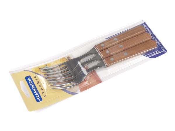 НАБОР ВИЛОК металлических 3 шт. с деревянными ручками 18,5 см (арт. 22302300)
