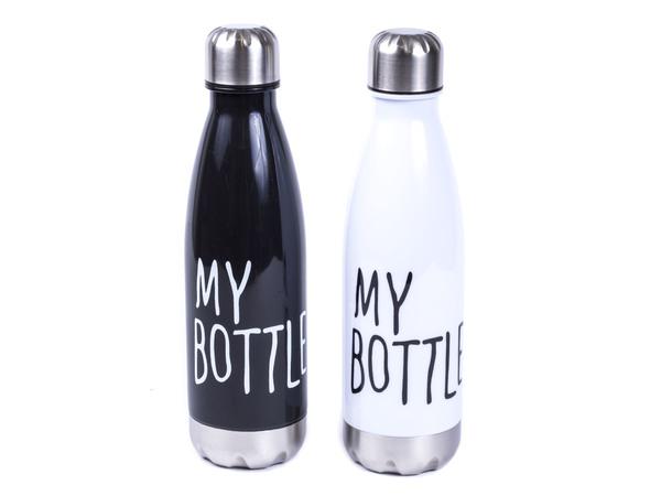 БУТЫЛКА пластмасса/металл для питья 500 мл (арт. 3050-500, код 176311)