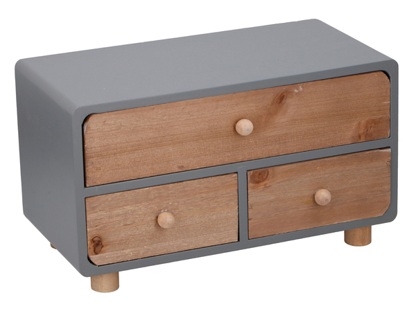 ШКАТУЛКА деревянная с 3-мя шуфлядками 30*16*17 см (код 051727)