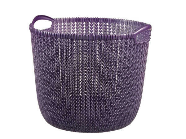 "КОРЗИНА пластмассовая ""Knit"" круглая L 30 л/39*39*33 см (арт. 229997, код 973075)"