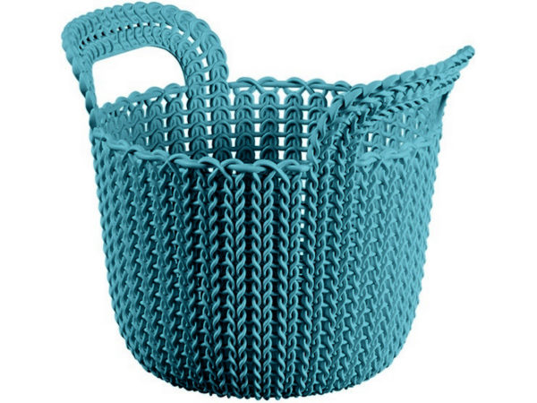 "КОРЗИНА пластмассовая ""Knit"" круглая XS 3 л/23*19*19 см (арт. 230795, код 971064)"