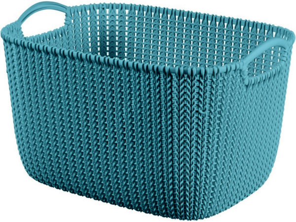 """КОРЗИНА пластмассовая """"Knit"""" прямоугольная L 19 л/40*28*23 см (арт. 230814, код 970234)"""