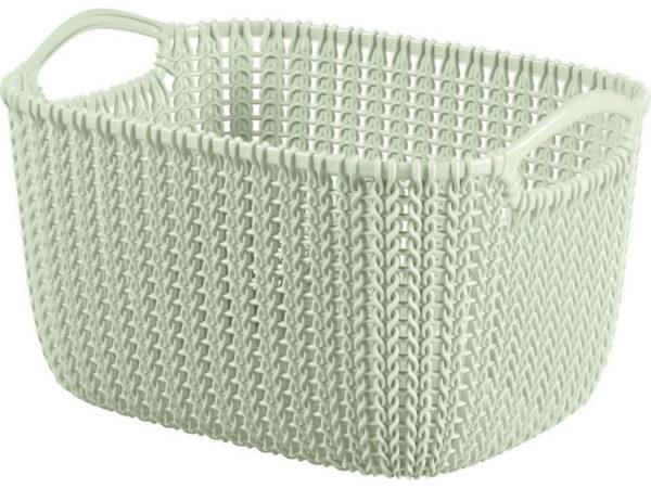 """КОРЗИНА пластмассовая """"Knit"""" прямоугольная S 8 л/30*22*17 см (арт. 226391, код 974003)"""