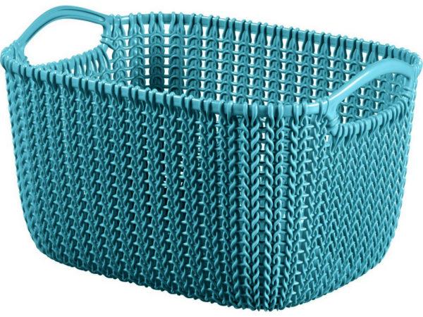 """КОРЗИНА пластмассовая """"Knit"""" прямоугольная S 8 л/30*22*17 см (арт. 230810, код 974393)"""