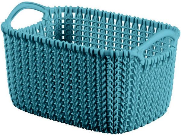"""КОРЗИНА пластмассовая """"Knit"""" прямоугольная XS 3 л/25*18*14 см (арт. 226395, код 975017)"""