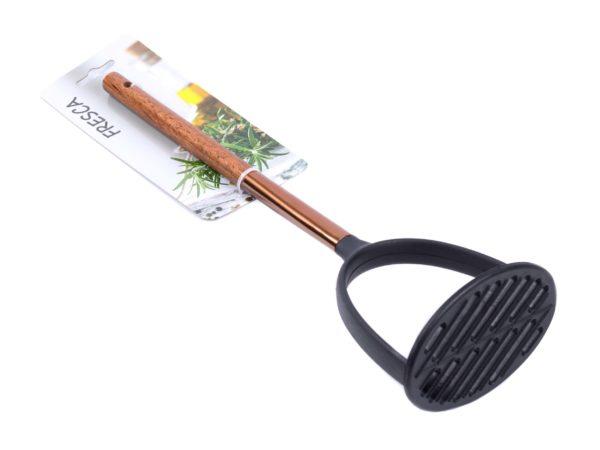 МЯЛКА ДЛЯ КАРТОФЕЛЯ пластмассовая термостойкая с деревянной ручкой 31,5 см (арт. 686248-285, код 176946)