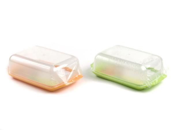 МАСЛЕНКА пластмассовая с прозрачной крышкой 16*10 см (арт. С3К, код 780670)