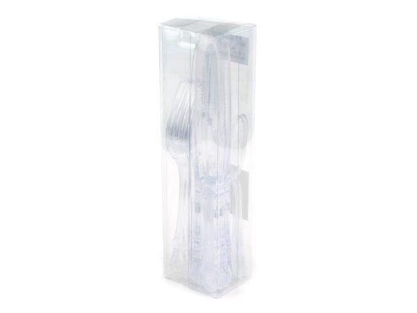 НАБОР СТОЛОВЫХ ПРИБОРОВ пластмассовых 12 пр.: 4 вилки, 4 ложки, 4 ножа (код 044471)