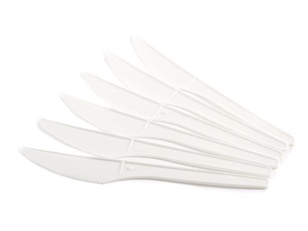 НАБОР НОЖЕЙ ОДНОРАЗОВЫХ пластмассовых белых 6 шт. 16 см (арт. BB101229, код 047345)