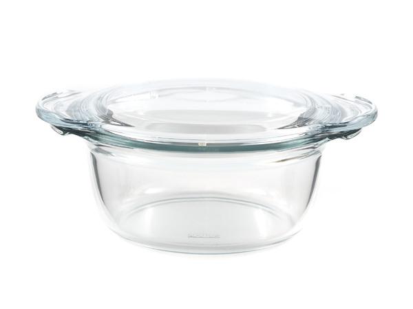 КАСТРЮЛЯ стеклянная круглая глубокая 1,5 л (арт. 6666/6676, код 414480)