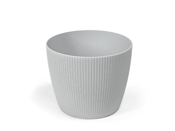"""КАШПО пластмассовое """"Magnolia Jumper"""" серое 14*12 см (арт. LA751-69, код 697519)"""
