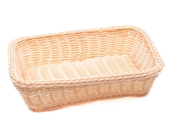 КОРЗИНА пластмассовая плетеная 30*20*7 см (арт. DR12030, код 183203)