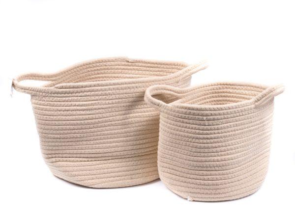 НАБОР КОРЗИН пластмассовых плетеных 2 шт. 23*28,5/20*24 см (арт. ST12012, код 183371)
