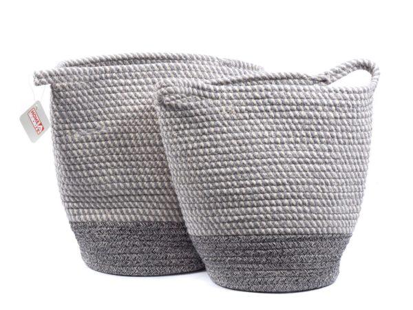 НАБОР КОРЗИН пластмассовых плетеных 2 шт. 30*33/23*24 см (арт. ST12011, код 183388)