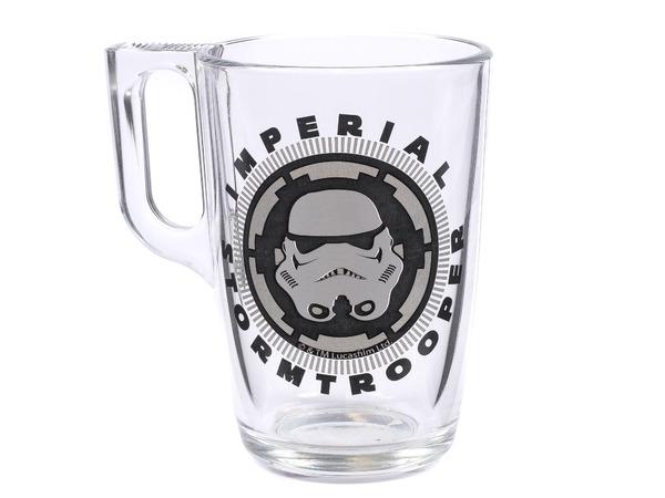 """КРУЖКА стеклянная """"Star Wars Stormtrooper"""" 320 мл (арт. L7397ДЗStormtr, код 037803)"""