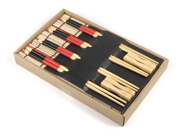 НАБОР ДЛЯ СУШИ 12 пр.: 4 пары палочек для еды, 4 подставки для палочек, 4 подставки бамбук. (арт. MY121140, код 059195)