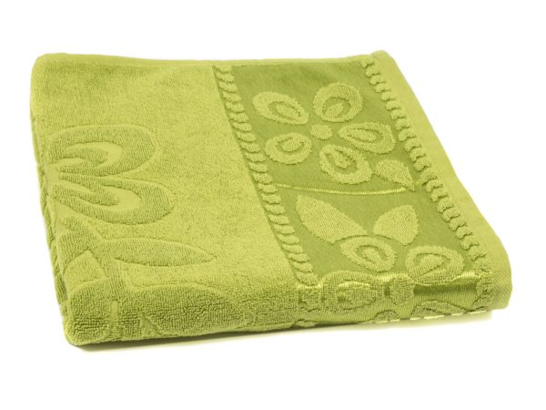 ПОЛОТЕНЦЕ текстильное махровое 70*130 см 430 гр/м2 BJ5 (арт. 70-130BJ-517-Оливковый, код 956295)