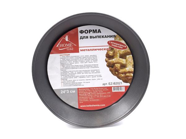ФОРМА ДЛЯ ВЫПЕКАНИЯ металлическая с антипригарным покрытием 24*3 см (арт. EZ-B2021, код 064977)