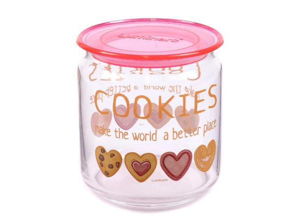 """БАНКА ДЛЯ СЫПУЧИХ ПРОДУКТОВ стеклянная """"Cookies"""" 750 мл (арт. P6019, код 212323)"""