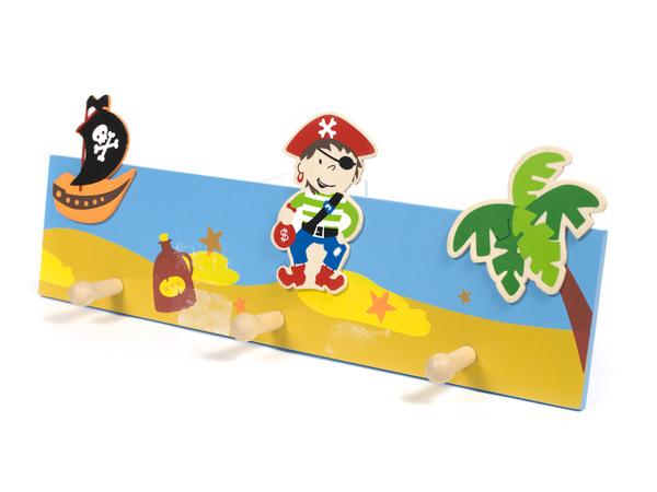 "ВЕШАЛКА НАСТЕННАЯ деревянная 3 крючка ""Пират"" 40*15 см (арт. MF-6094, код 068555)"