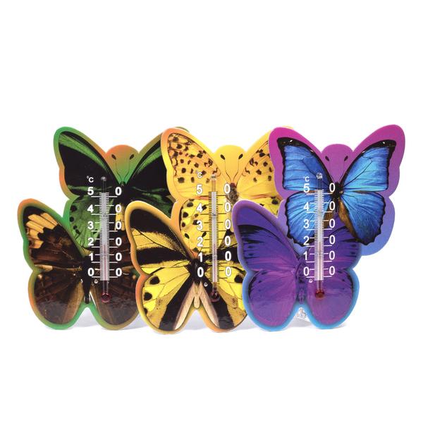 """ТЕРМОМЕТР КОМНАТНЫЙ в картонном корпусе """"Бабочка"""" от 0°C до + 50°C на скотче (арт. 300059, код 680813)"""