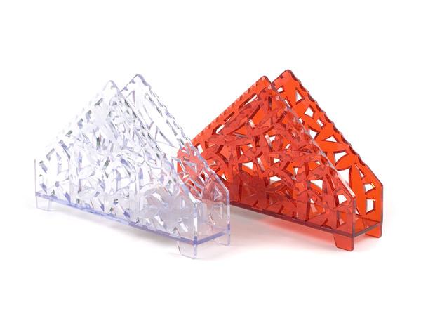 ПОДСТАВКА ДЛЯ САЛФЕТОК пластмассовая 15*3,7*10 см (арт. 10076, код 073863)