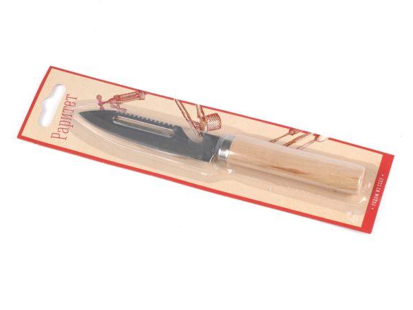 НОЖ-ШИНКОВКА металлический с деревянной ручкой 19 см (арт. BB101344, код 086528)