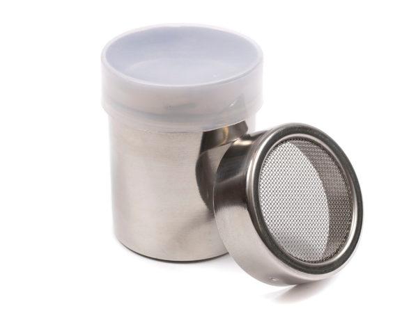 БАНКА ДЛЯ СПЕЦИЙ металлическая с пластмассовой крышкой 6*6*8 см (арт. 80919, код 224173)