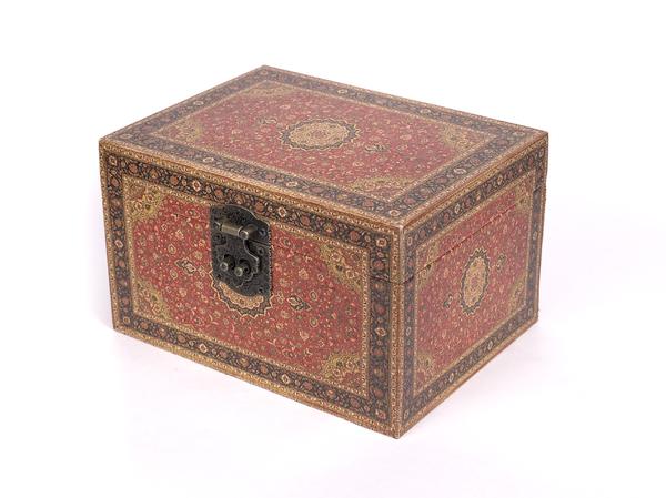 ШКАТУЛКА деревянная 20,2*15,2*12,2 см (арт. 7790168, код 000260)